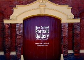 Iconz of Wellington - NZ portrait Gallery door