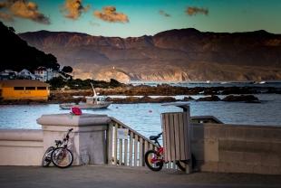 Bikes boat and hills